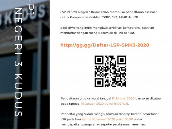 Pembukaan Sertifikasi Kompetensi LSP-P1